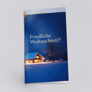 Ein Flyer zum Frieden an Weihnachten