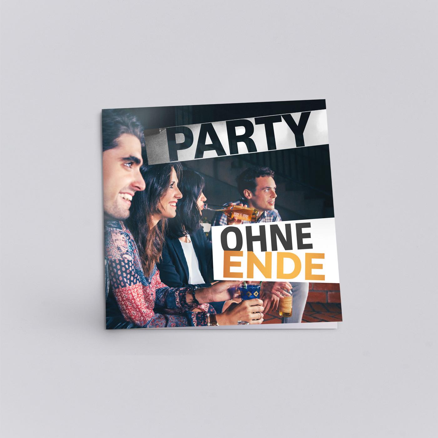 Flyer über Party ohne Ende