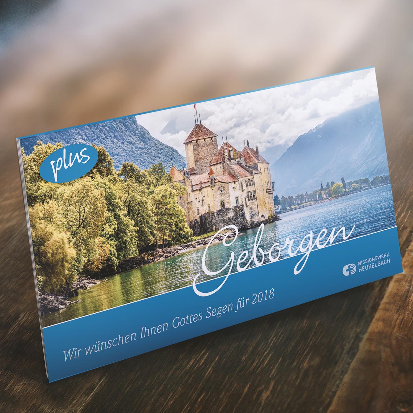 """Kalender für Senioren: """"Geborgen 2018 plus"""""""