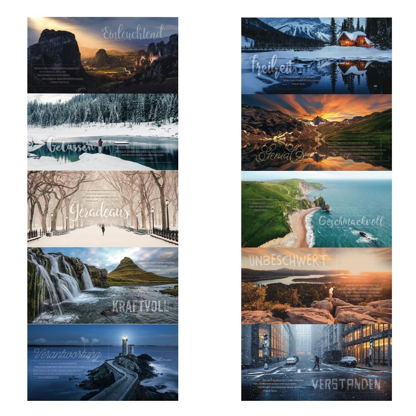 Übersicht Postkarten